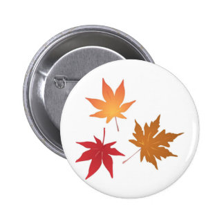 Autumn Maple Leaves Collection 6 Cm Round Badge