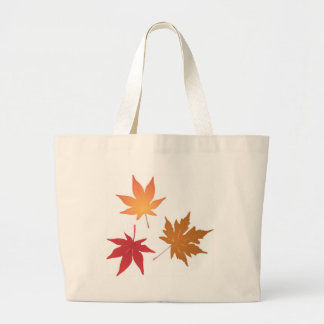 Autumn Maple Leaves Collection Large Tote Bag