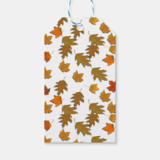 Autumn maple leaves gift tags