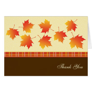 Autumn Maple Leaves Thank You Card