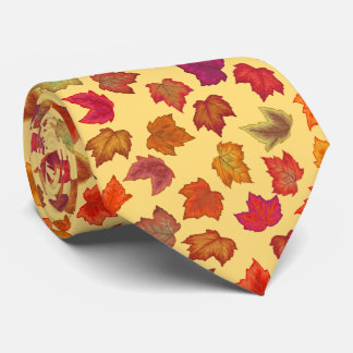 Autumn Maple Leaves U-Pick Background Color Tie