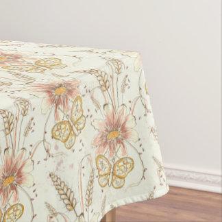 Autumn Meadow Butterflies Cotton Tablecloth