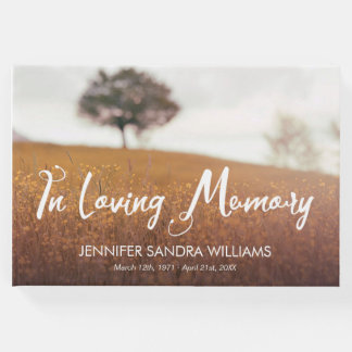 Autumn Meadow In Loving Memory Guest Book