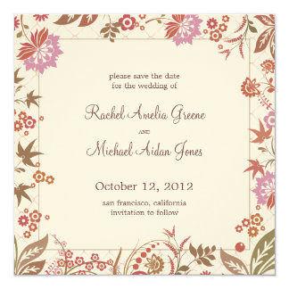 Autumn Medley Save the Date Wedding Card