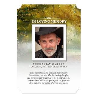 Autumn Memorial Thank You Card