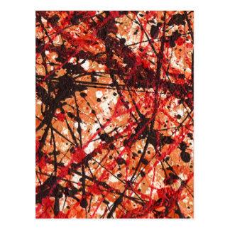 AUTUMN MIX (abstract art design) ~ Postcard