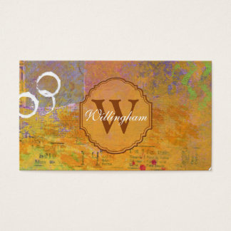 Autumn Monogram Business Card