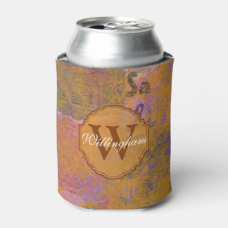 Autumn Monogram Can Cooler