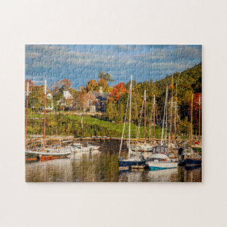 Autumn Morning In The Camden Harbor, Camden Jigsaw Puzzle