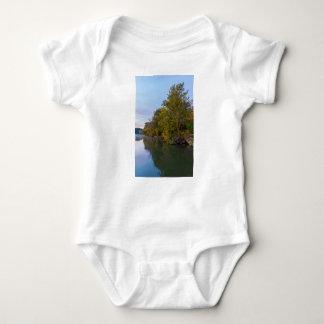 Autumn Morning Lake Springfield Baby Bodysuit