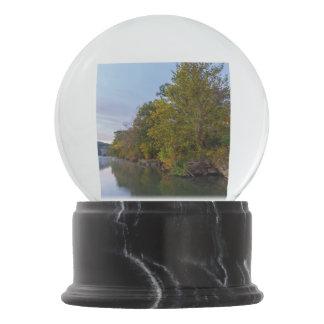 Autumn Morning Lake Springfield Snow Globe