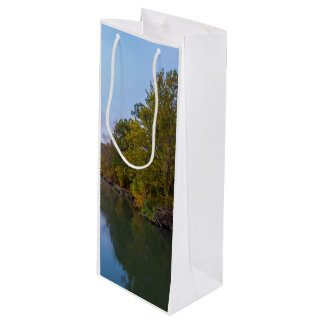 Autumn Morning Lake Springfield Wine Gift Bag