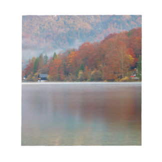 Autumn morning over Lake Bohinj Notepad