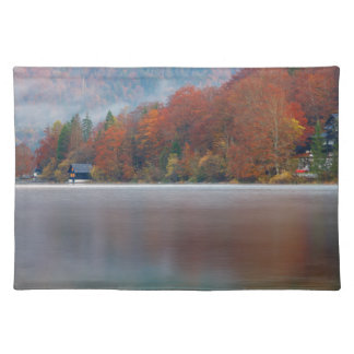 Autumn morning over Lake Bohinj Placemat