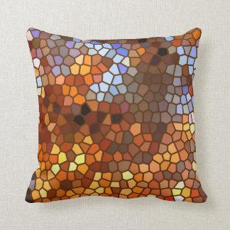 Autumn Mosaic Abstract Cushion