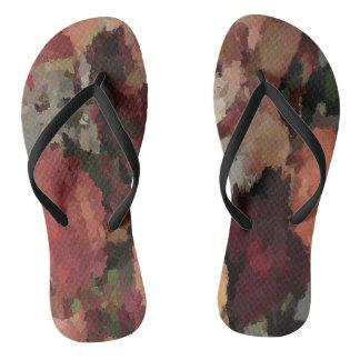 Autumn Mosaics Thongs