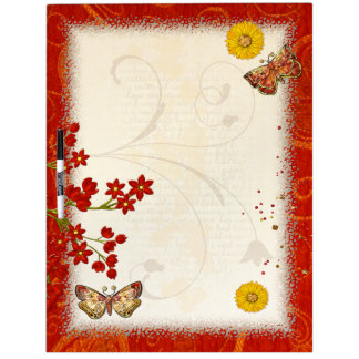 Autumn Moth Musings 3D Jeweled Dry Erase Board