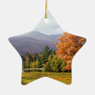 Autumn Mount Mansfield Vermont Ceramic Ornament