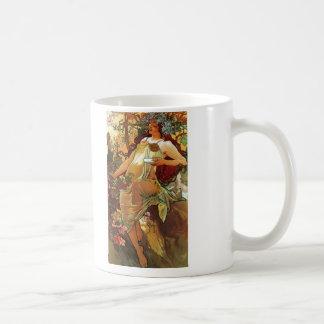 Autumn, Mucha Coffee Mug