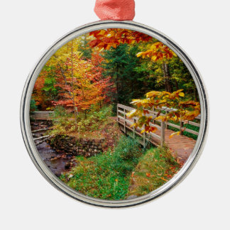 Autumn Munising Trail Alger County Michigan Metal Ornament