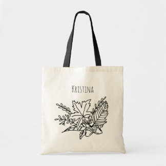 Autumn Name Tote Bag