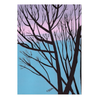 Autumn Night Tree Artist Trading Card Business Cards