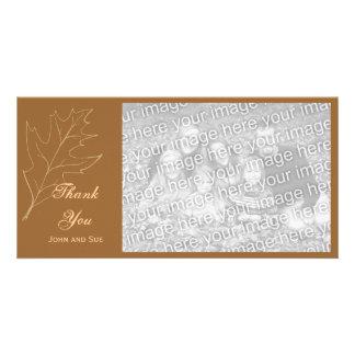 Autumn Oak Leaf Thank You Photo Cards