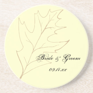 Autumn Oak Leaf Wedding Coaster