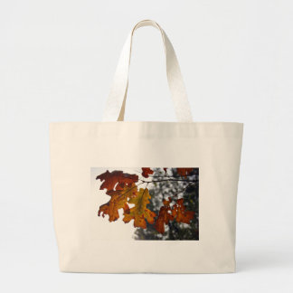 Autumn Oak Leaves Canvas Bags