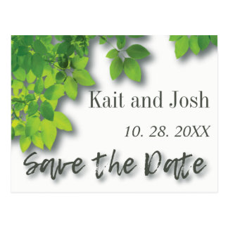Autumn Oak Save the Date Postcard