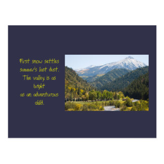 Autumn on Kebler Pass Photo and Poem Template Postcard