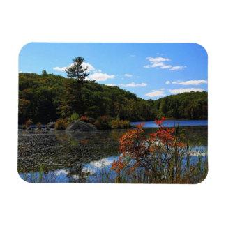 Autumn On Lake Rectangular Photo Magnet