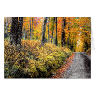Autumn on Long Pond Road, Benton, New Hampshire Card
