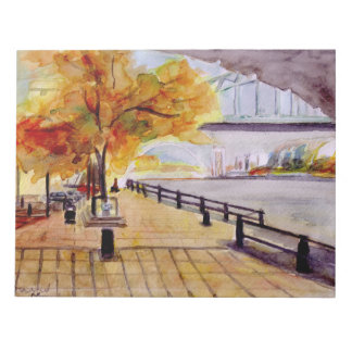Autumn on Newcastles Quayside notepad. Notepad