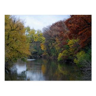 Autumn on the Des Plaines River Postcard