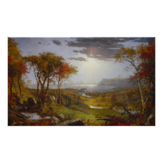 Autumn On the Hudson River by Francis Cropsey Poster