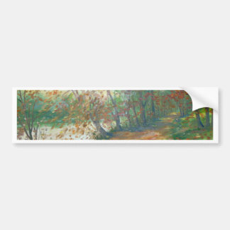Autumn on the river bumper sticker