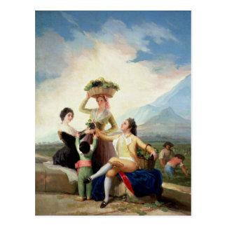 Autumn, or The Grape Harvest, 1786-87 Postcard