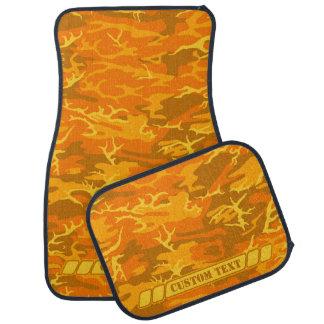 Autumn Orange Camo w/ Custom Text Car Mat