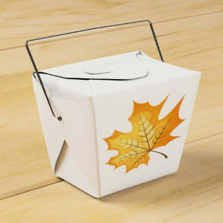 Autumn Orange Leaf Rustic Country Wedding Party Party Favour Boxes