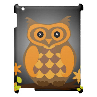 Autumn Orange Owl iPad Cases