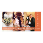AUTUMN ORANGE UNION | WEDDING THANK YOU CARD PHOTO CARD TEMPLATE