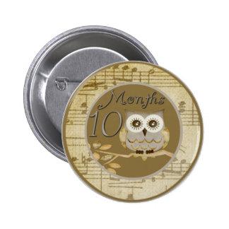 Autumn Owl 10 Months Button