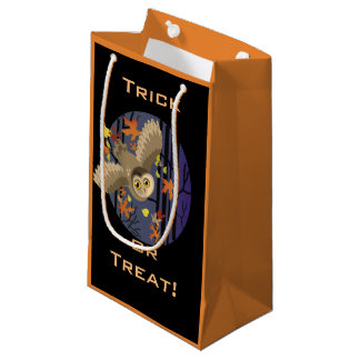 Autumn Owl Trick or Treat Small Gift Bag