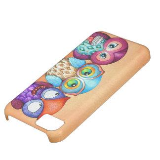 Autumn Owl Trio iPhone 5C Case