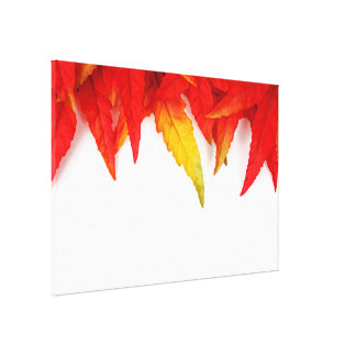 Autumn Painterly Leaf Gallery Wrap Canvas