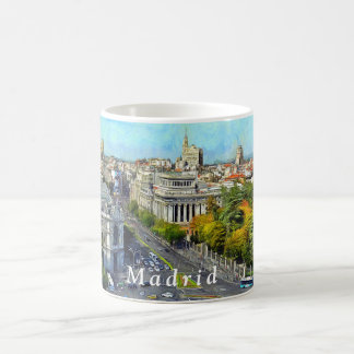 Autumn panorama of Madrid. Coffee Mug