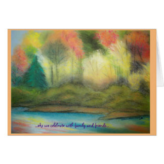 Autumn Pastel Landscape Card