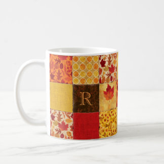 Autumn Patchwork Monogram Coffee Mug