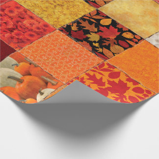 Autumn Patchwork Wrapping Paper